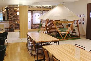 エキュート立川10周年記念でフォレストドーム設置の写真1