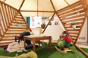 エキュート立川10周年記念でフォレストドーム設置の写真5