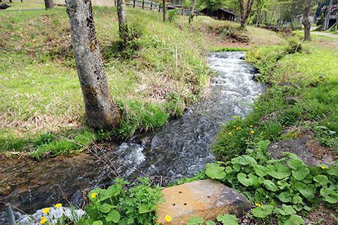 陣内森林公園と立科2号幹線用水路