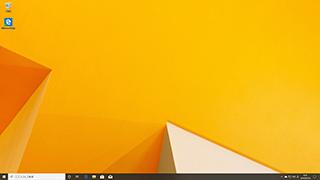 Windows10の初期画面